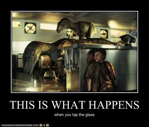 demotivational dinosaurs funny jurassic park Movie velociraptor - 4744839680