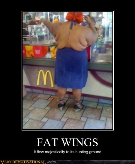 fat wings flying hilarious McDonald's - 4744957184