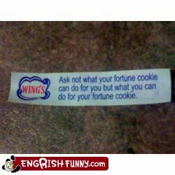 fortune cookie,speech