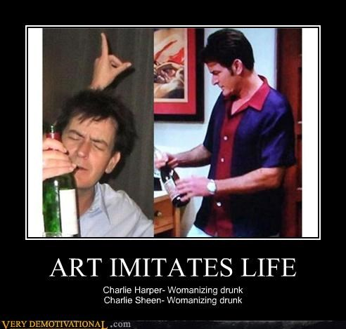 art,Charlie Sheen,hilarious,imitation,life