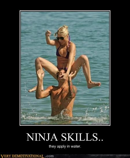 hilarious,ladies,ninja,water,wtf