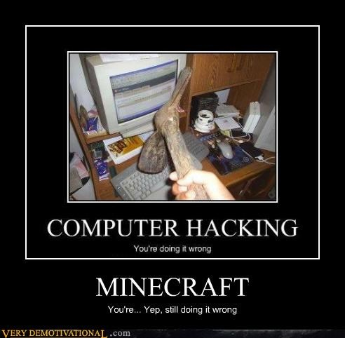 computer hilarious minecraft pick - 4745441024