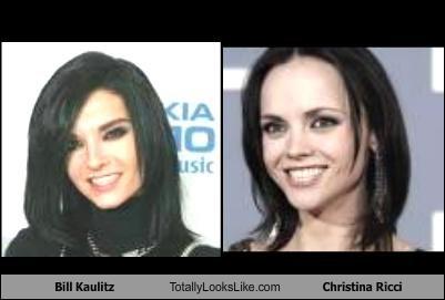 actresses,Bill Kaulitz,christina ricci,musicians,Tokio Hotel