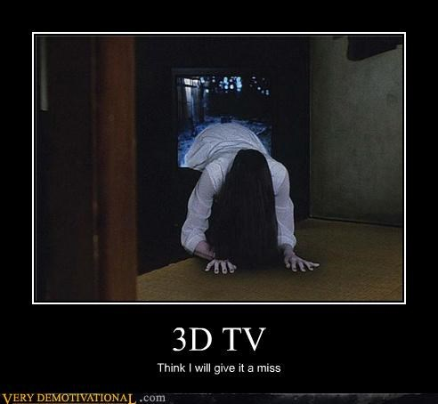 3D tv,hilarious,ring,scary