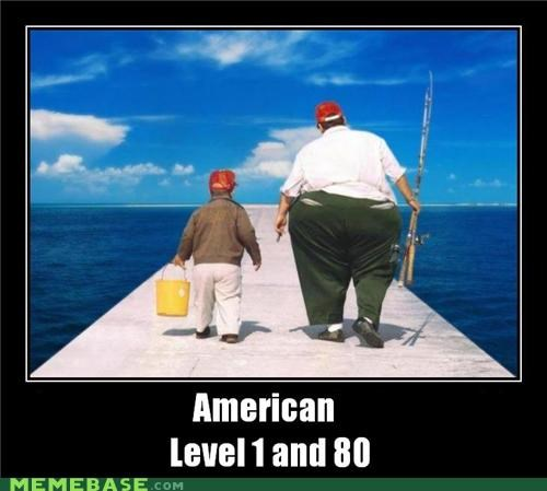 america,fat,hilarious,kids,level 1 and 80