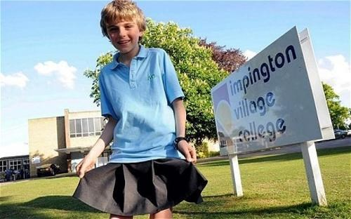 Chris Whitehead,Impington Village College,kids these days,Uniform Policy Protest