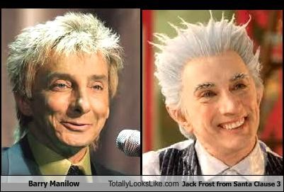 Barry Manilow Totally Looks Like Jack Frost from Santa Clause 3