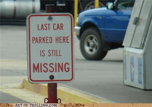 IRL,missing,parking,sign