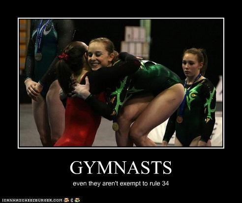 GYMNASTS even they aren't exempt to rule 34