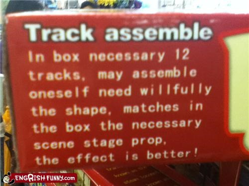 assembly toy track - 4746681088