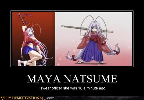 MAYA NATSUME i swear officer she was 18 a minute ago