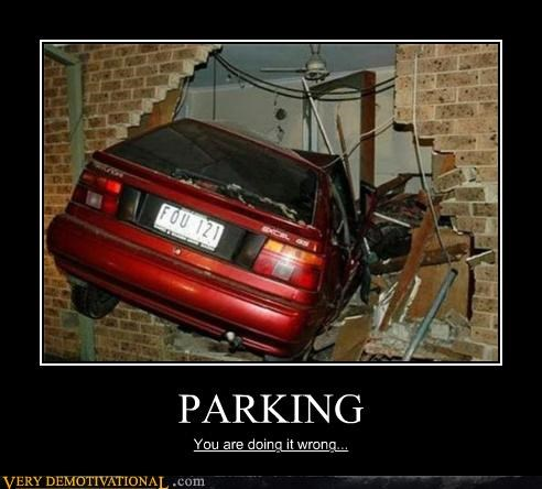 car crash hilarious parking wtf - 4746900736