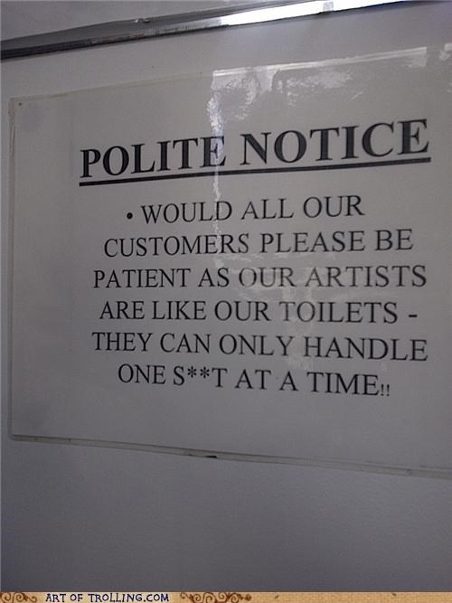 poop rude the customer is never right toilets - 4747259904
