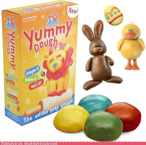 clay cook dough eat edible make mold play Play Dough sculpture - 4747464704