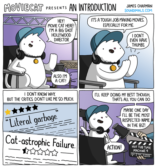 comic about a movie director who is a cat