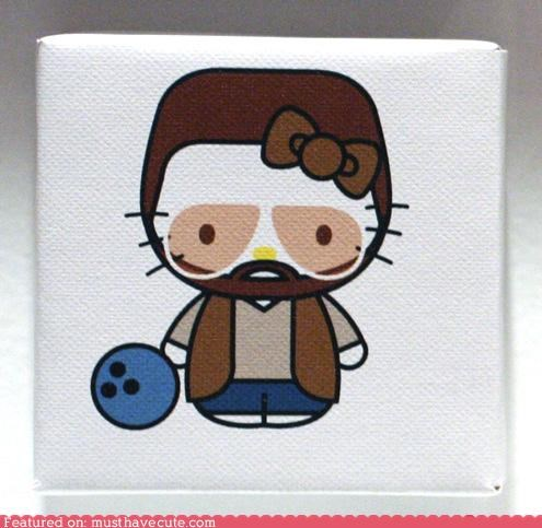 art bowling ball hello kitty john goodman print the big lebowski walter - 4747792128