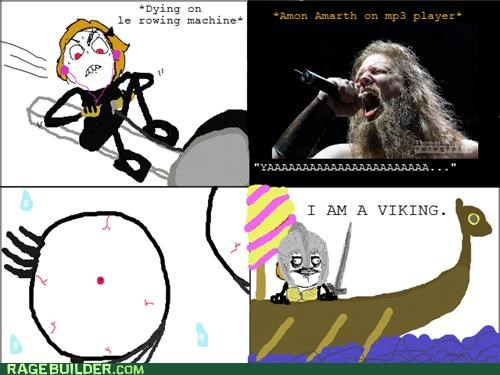 heavy metal,mp3,Rage Comics,rowing machine,viking