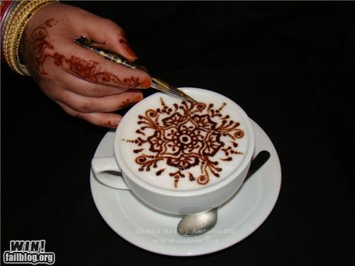 coffee design henna latte art tattoo - 4748815616
