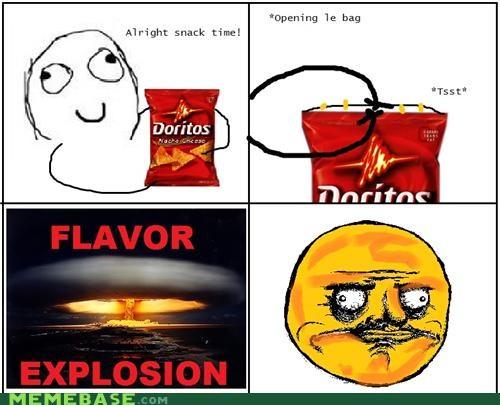doritos,explosion,flavor,Rage Comics,snacks