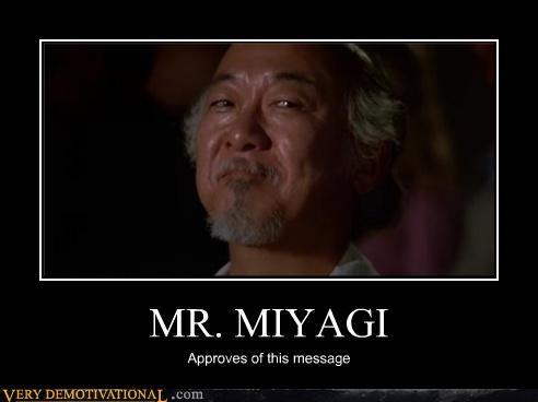 Karate Kid Movie mr myagi Pure Awesome - 4749178112