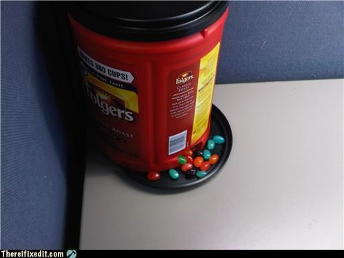 candy,coffee,dual use,folgers,office kludge