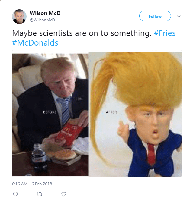 twitter baldness McDonald's fries - 4749573