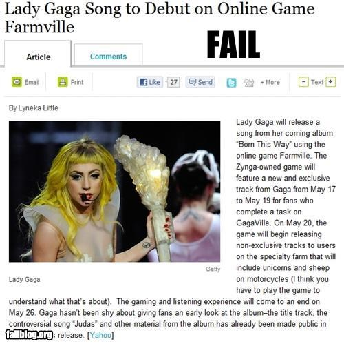 facebook failboat Farmville g rated lady gaga Music poll Probably bad News - 4750255360