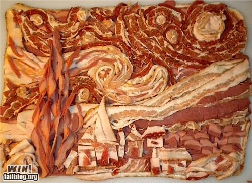 art bacon delicious bacon starry night Van Gogh