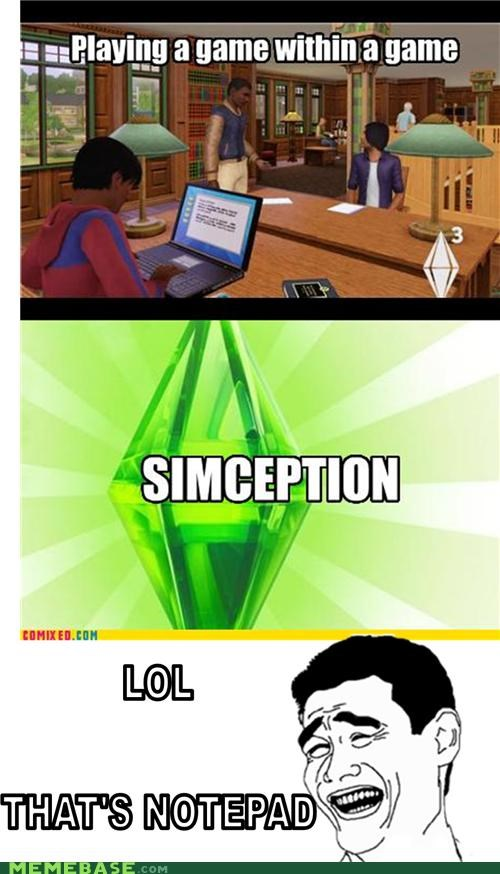 Inception lol notepad Reframe simception video games - 4750475008