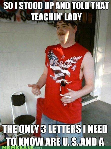 america,letters,redneck randal,teacher,usa