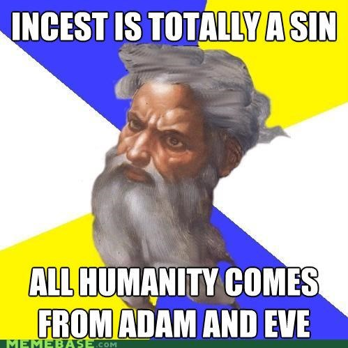 adam and eve,apple,humanity,implied win,sin,Troll God
