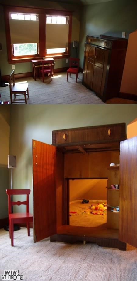 awesome,design,furniture,secret rooms,wardrobe