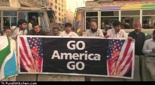america flag burning Pakistan political pictures - 4750708736
