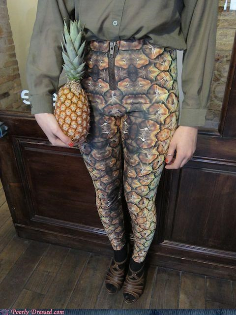 leggings pants pineapple - 4750800640