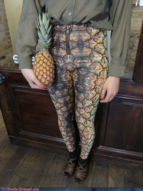 leggings pants pineapple - 4750800640