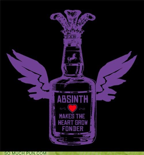 absence absinth absinthe adage fonder grow heart makes shirt similar sounding - 4750803712