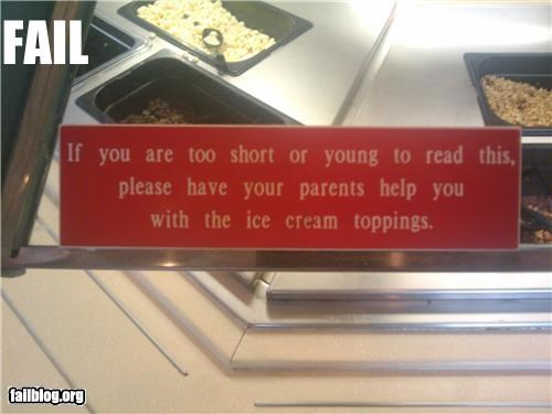 failboat g rated kids restaurant signs stupidity