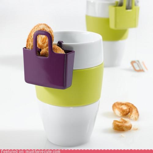 container cup hang holder mug pocket snack - 4750985728
