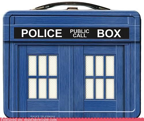 doctor who lunchbox phone booth tardis