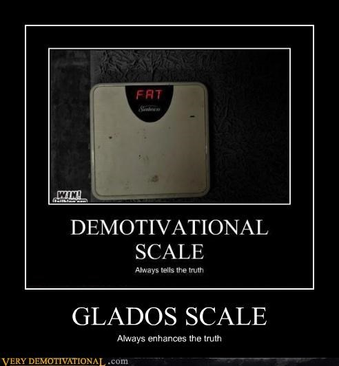 fat gladOS hilarious scale - 4751106048