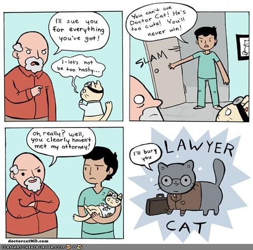comic,comics,doctor cat,doctors,lawyer cat,Lawyers,medicine