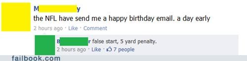 birthdays,nfl,failbook,funny