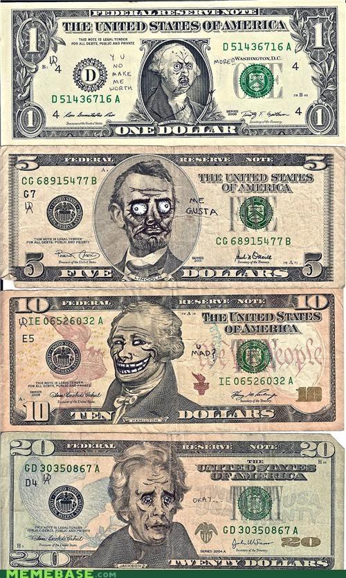 lincoln me gusta Memes money Okay presidents trollface - 4751469312