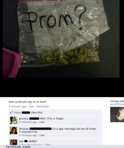 invitation,marijuana,prom,win,witty reply