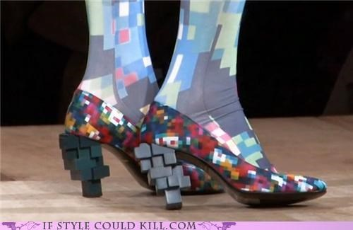 anrealage,crazy shoes,heels,pixels