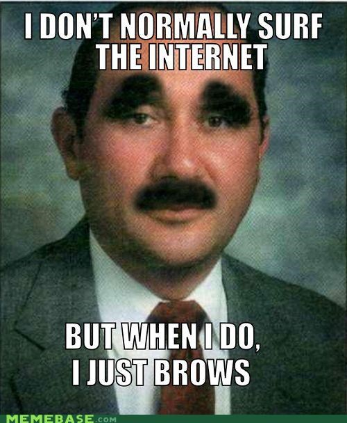 browse,eyebrows,pun,surf,the most interesting man in the world