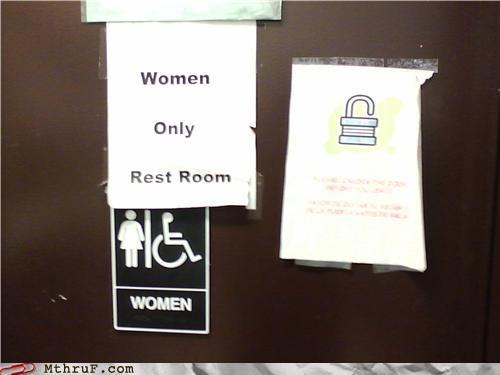 redundant signs womens-restroom - 4751886592