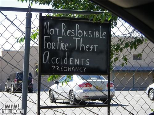 graffiti hacked pregnant signs - 4752432384