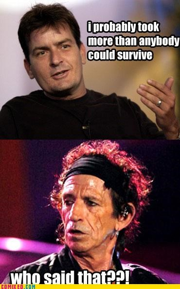 Charlie Sheen,Keith Richards,old