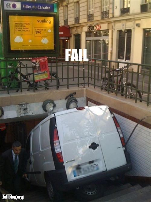 crash,failboat,g rated,metro,paris,public transit,Subway,truck,van